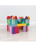 Bouwblokken klein pyramide
