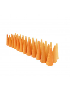 Mandala - Oranje kegeltjes
