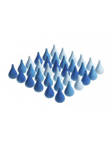 Blauwe druppels