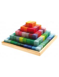 Bouwblokken pyramide groot