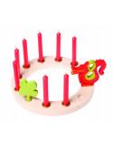 Verjaardagsring klein naturel