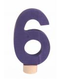 Cijfer 6 voor verjaardagsring