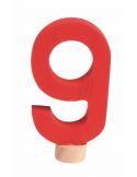 Cijfer 9 voor verjaardagsring