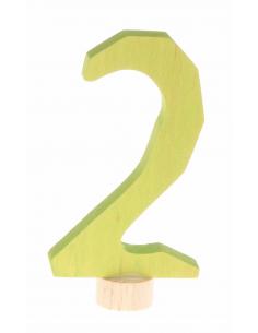 Cijfer 2 voor verjaardagsring antroposofisch