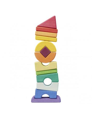 Scheve blokken toren