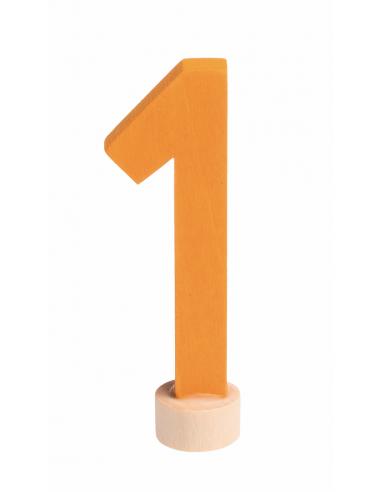 Cijfer 1 voor verjaardagsring