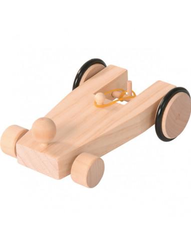 Opwindbaar raceauto bouwpakket