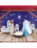 Knutsel kerststal compleet