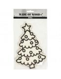 Inkleur kerstboom hout