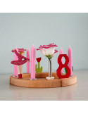 Kaars roze
