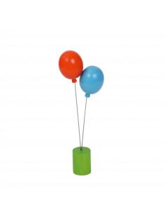 Ballon steker blauw/oranje