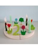 Rode tulp steker voor verjaardagsring