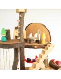Boomstam poppenhuis