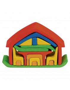Mini poppenhuis gekleurd
