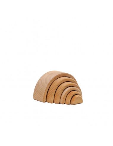 Kleine houten regenboog naturel