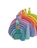 Regenboog vriendjes pastel