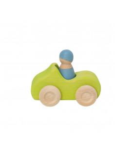 Auto met bestuurder groen