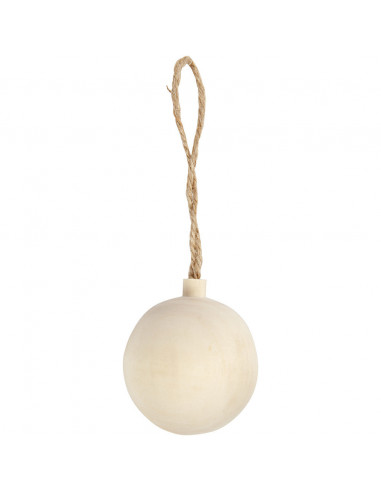Houten kerstbal klein