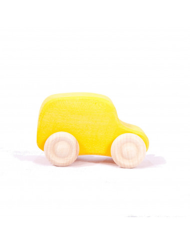 Gele bestelbus