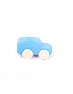 Blauwe stationwagen