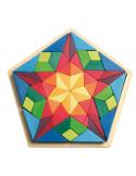 Blokkenset ster mozaiek