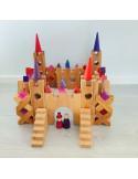 Houten kasteel blokken