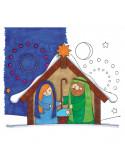 Houten kerststal stempel