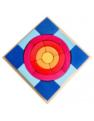 Cirkel puzzelblokken