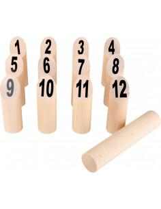 Kubb spel cijfers