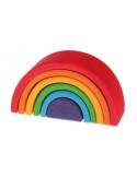 Kleine houten regenboog