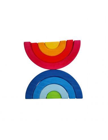 Dubbele regenboog blokken