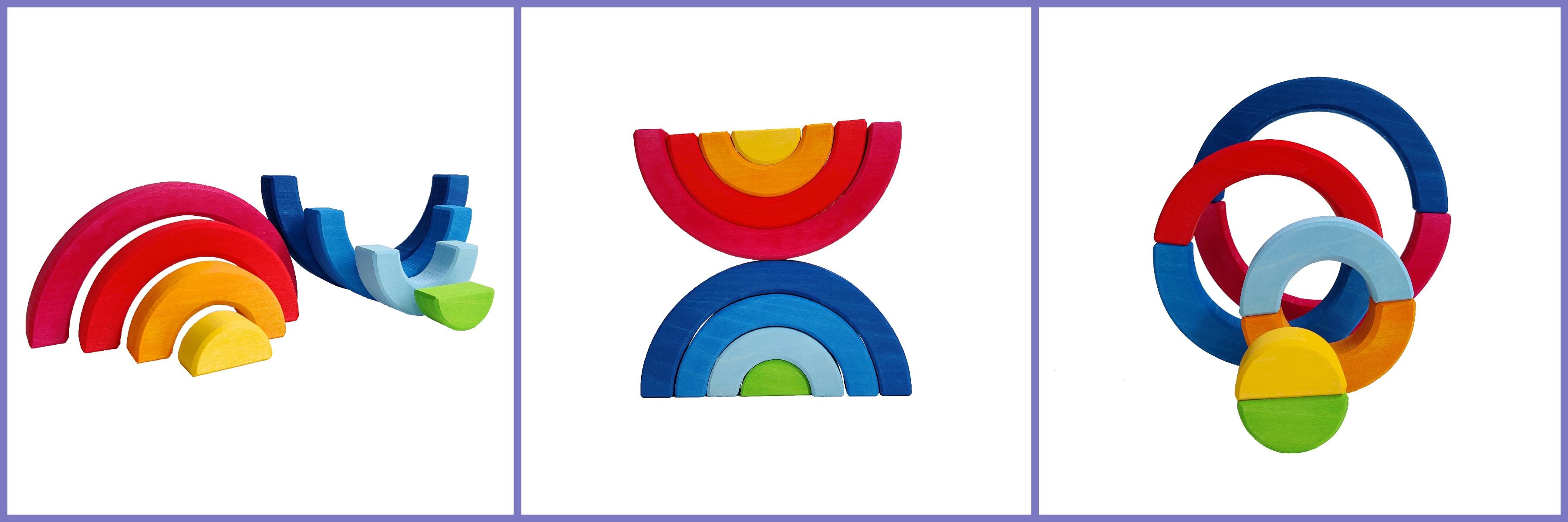 dubbele regenboog blokken set