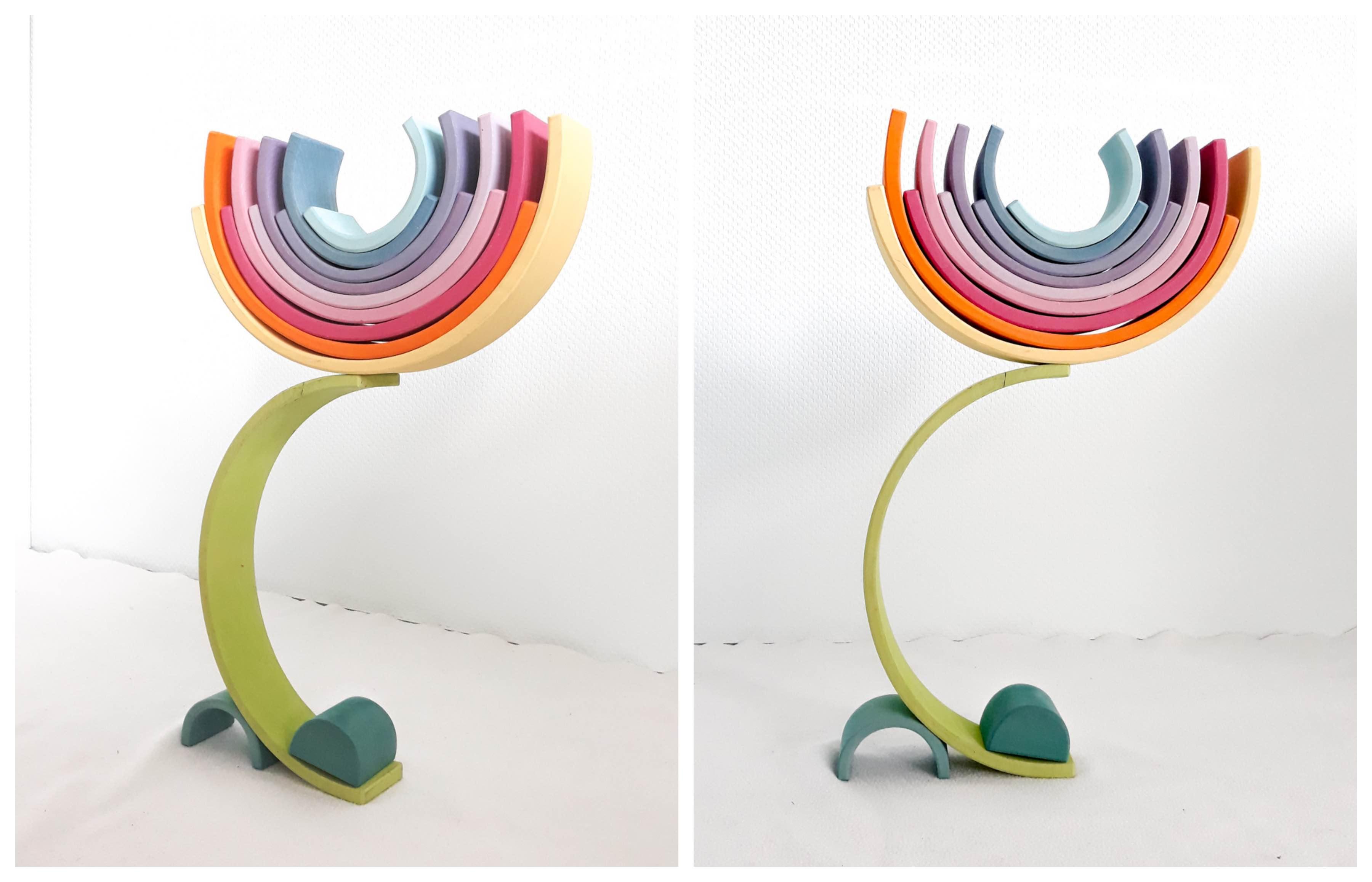 houten regenboog voorbeelden 3d bloem