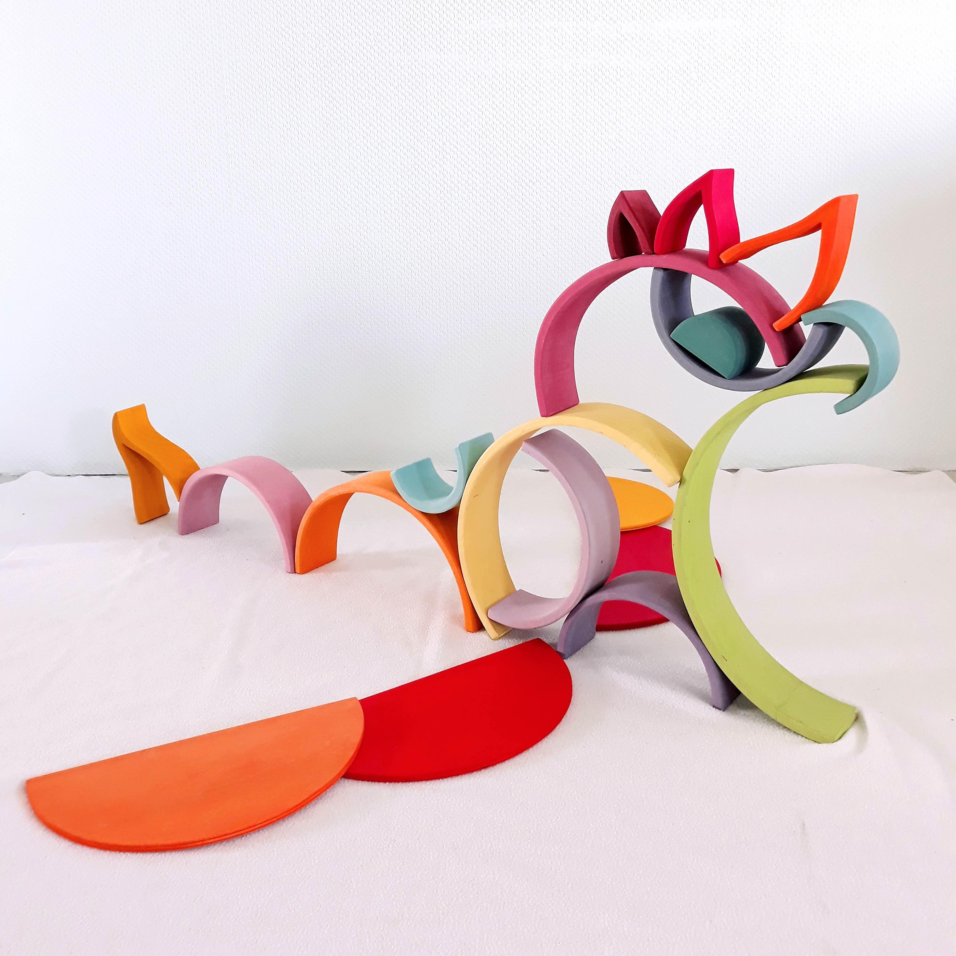 houten regenboog voorbeeld 3D draak