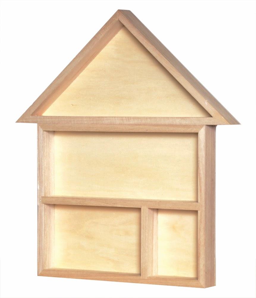 Knutselkastje in de vorm van een huis duurzaam houten for Huis duurzaam maken