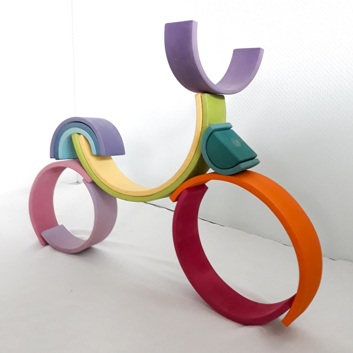 houten regenboog voorbeeld fiets