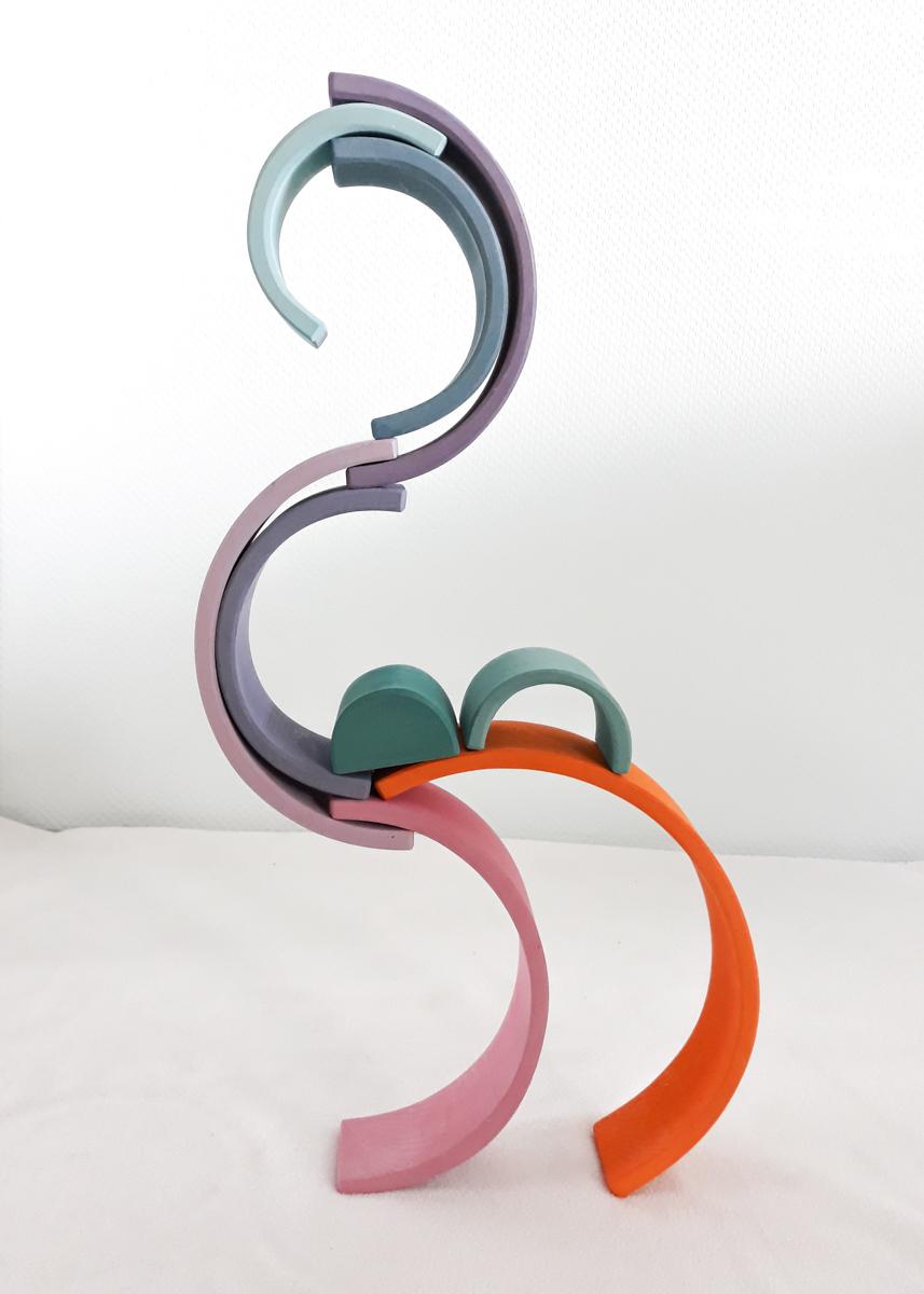 houten regenboog voorbeeld 3d flamingo