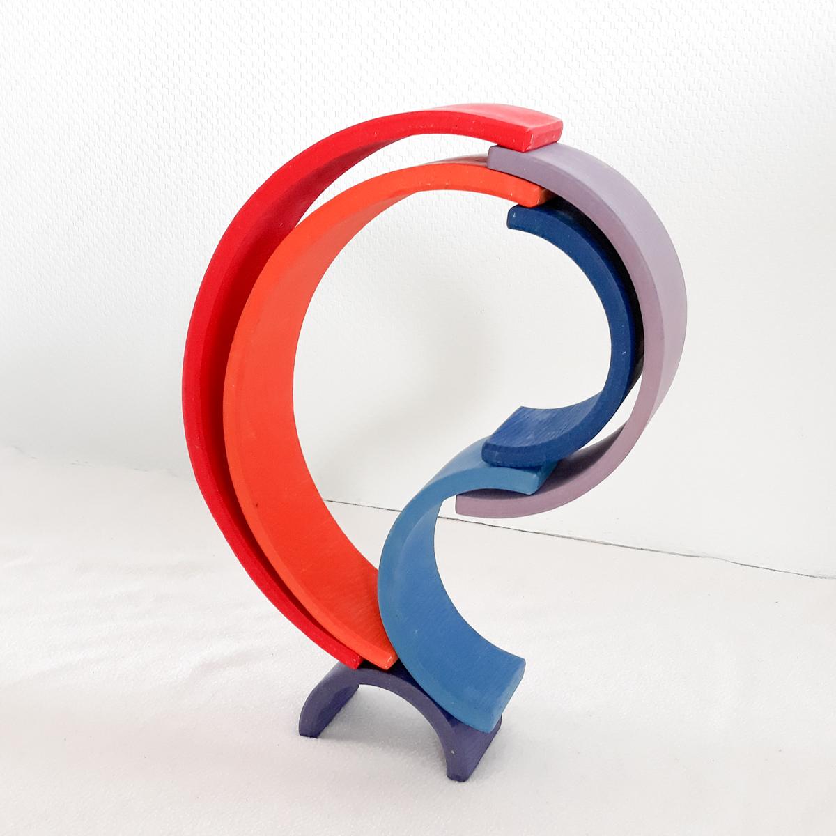 houten regenboog voorbeeld 3d druppel
