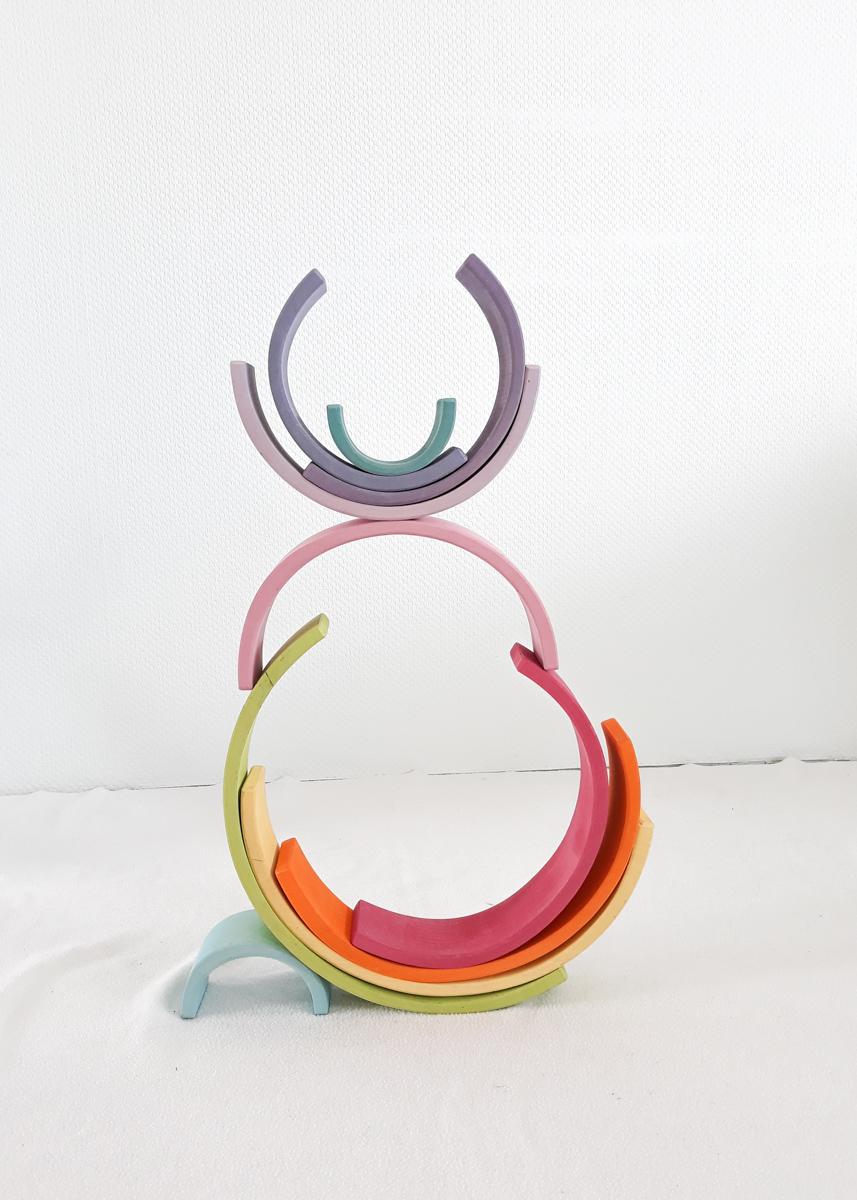 houten regenboog voorbeeld 3d poppetje