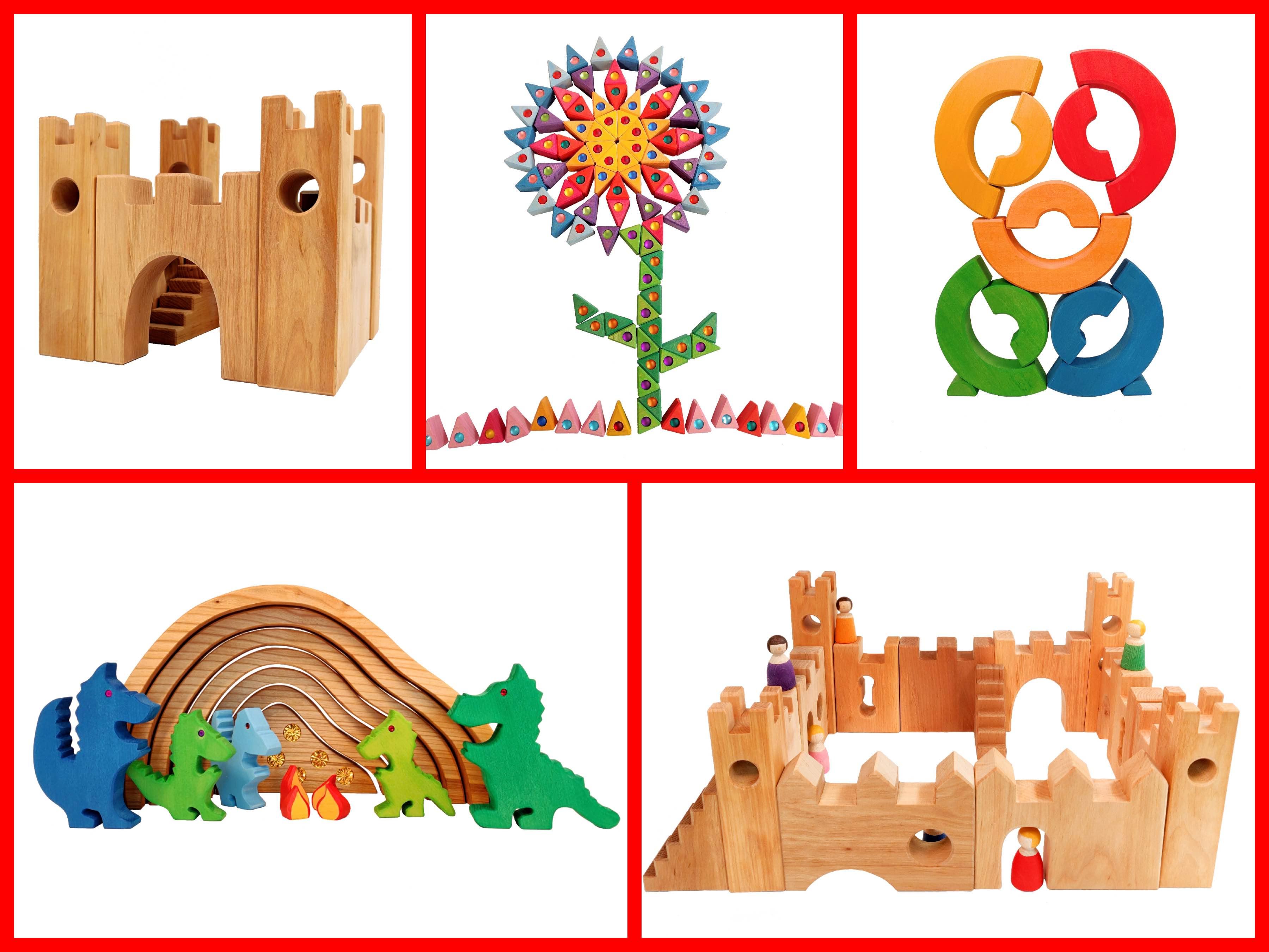 bauspiel houten speelgoed