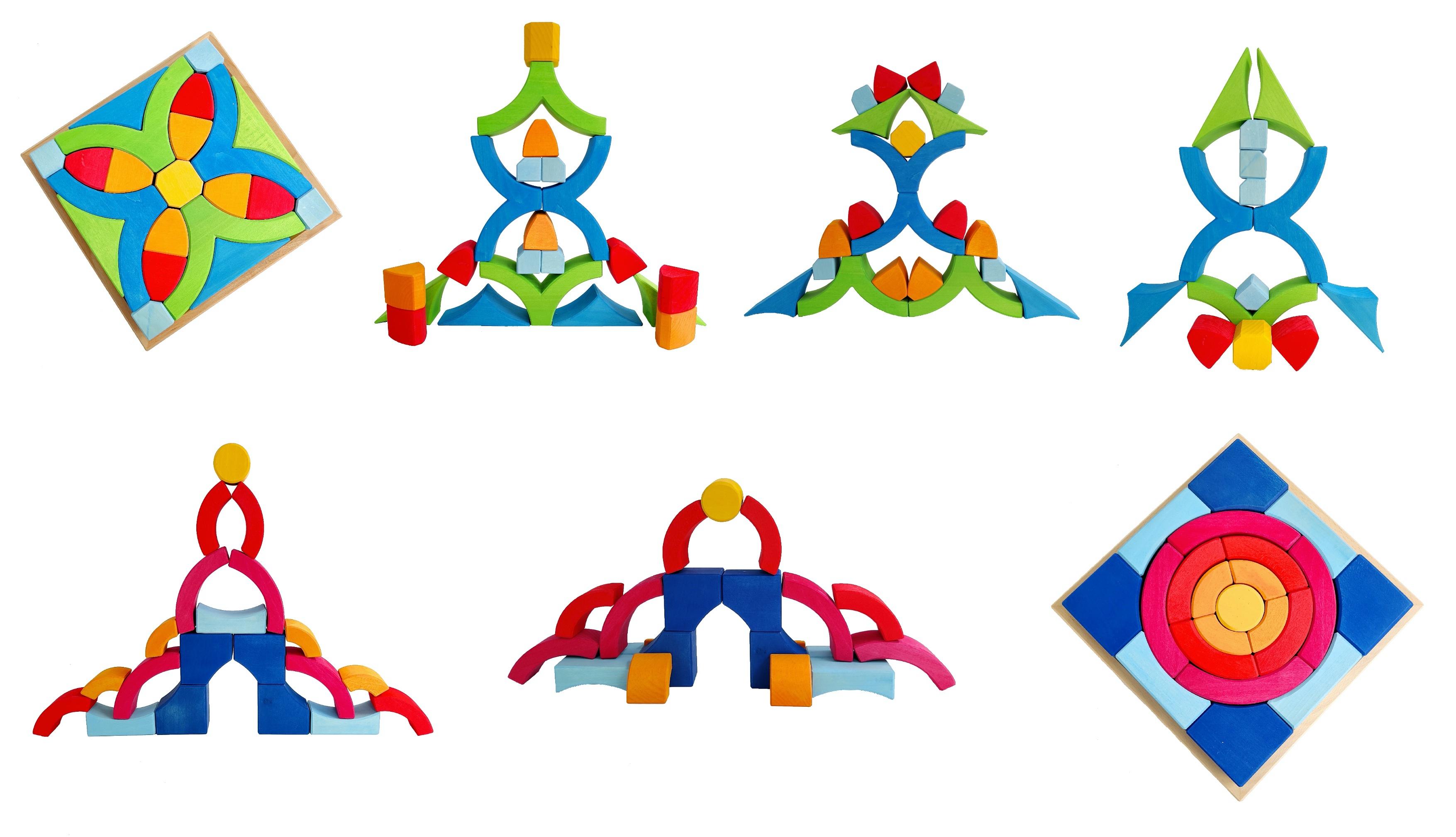 blokken puzzels bauspiel