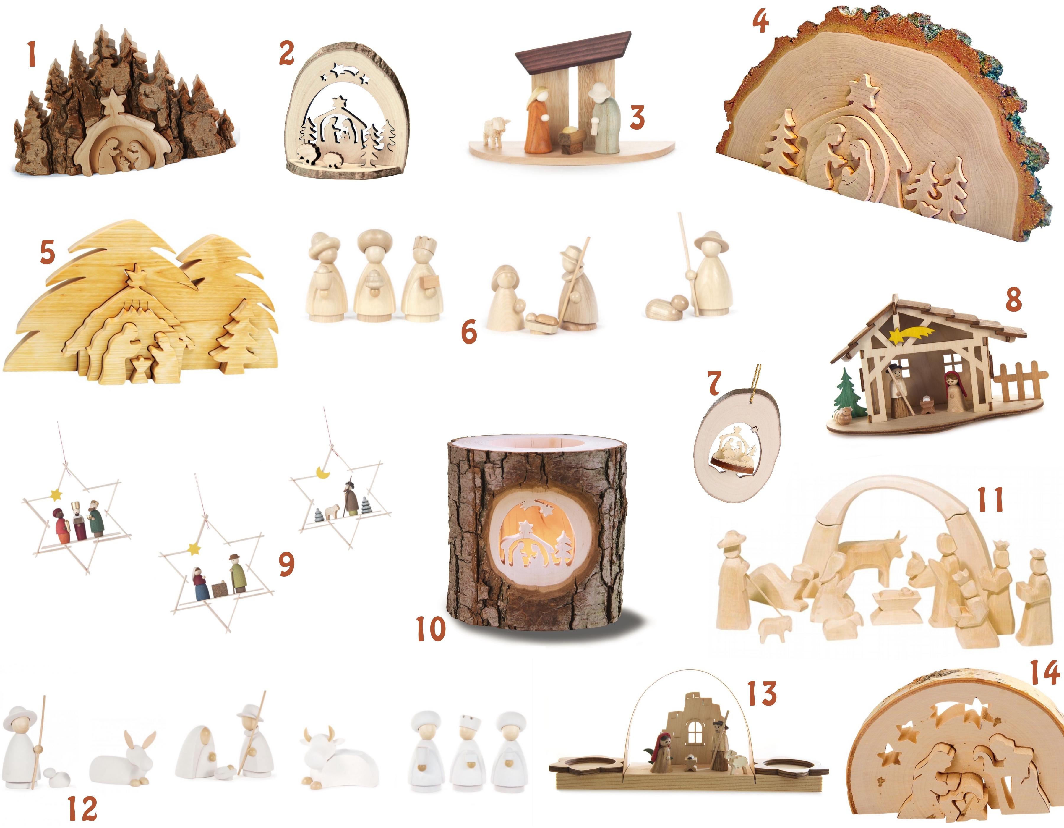de mooiste houten kerststallen