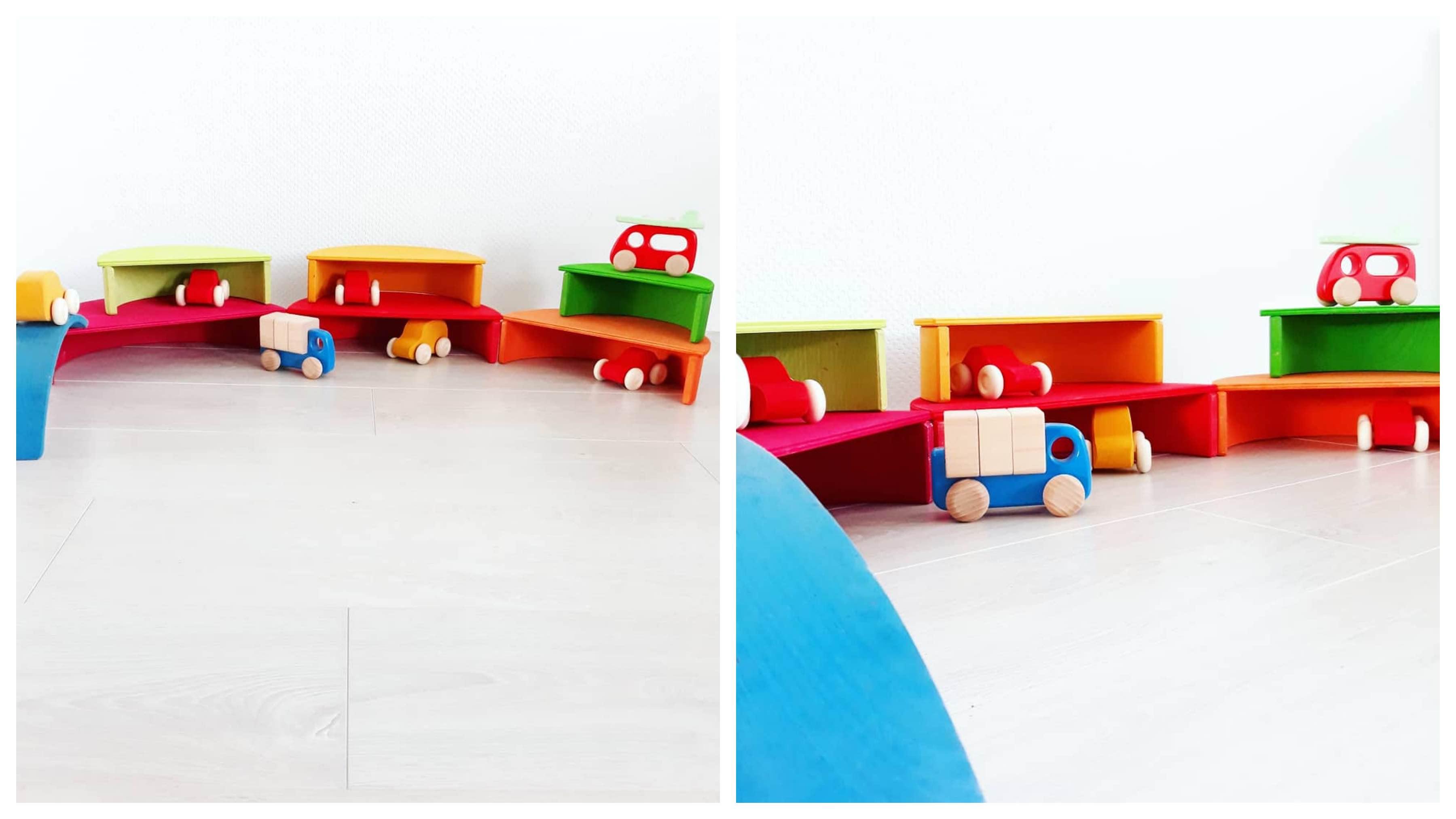 houten regenboog voorbeeld garage