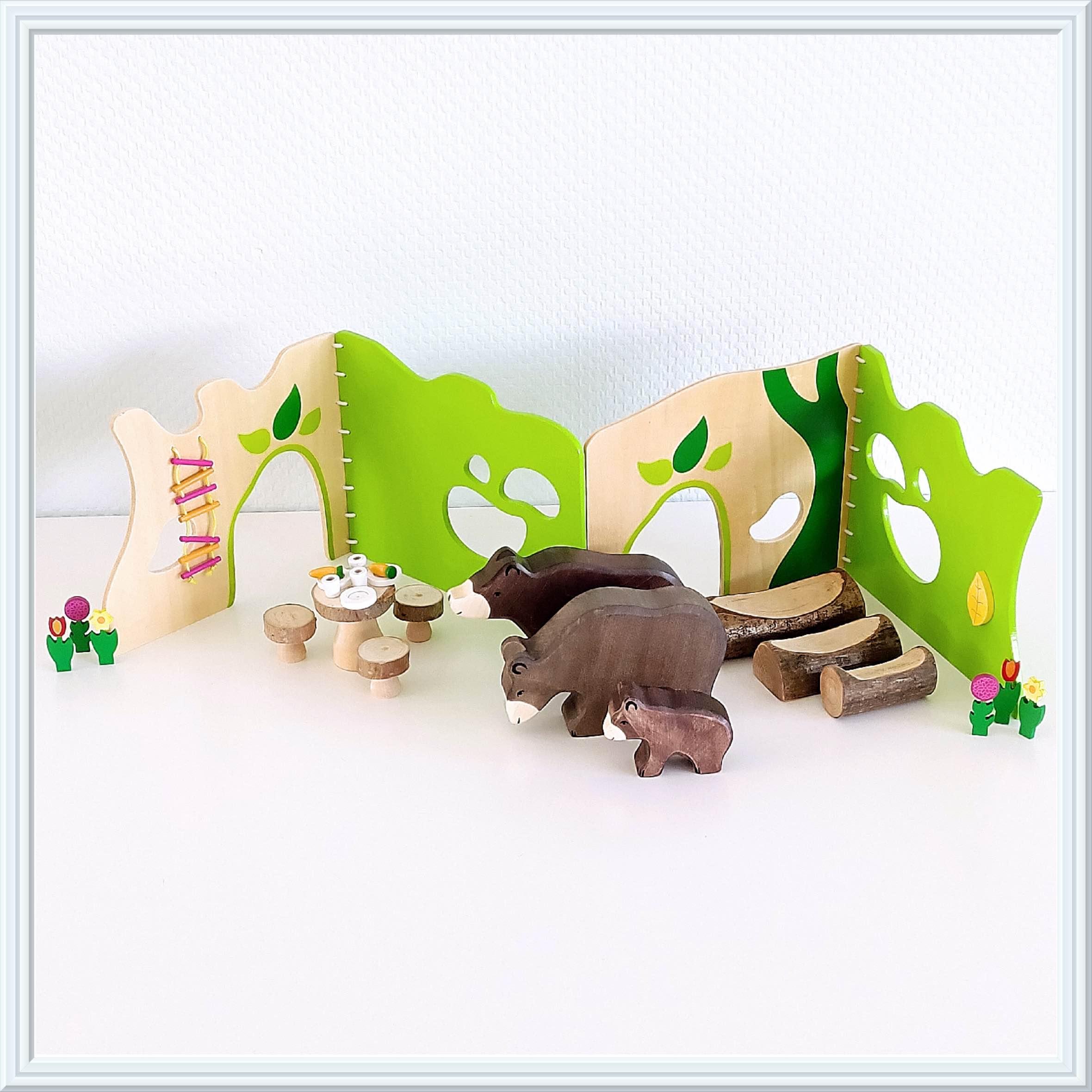 Sprookjes met houten speelgoed, goudlokje en de drie beren