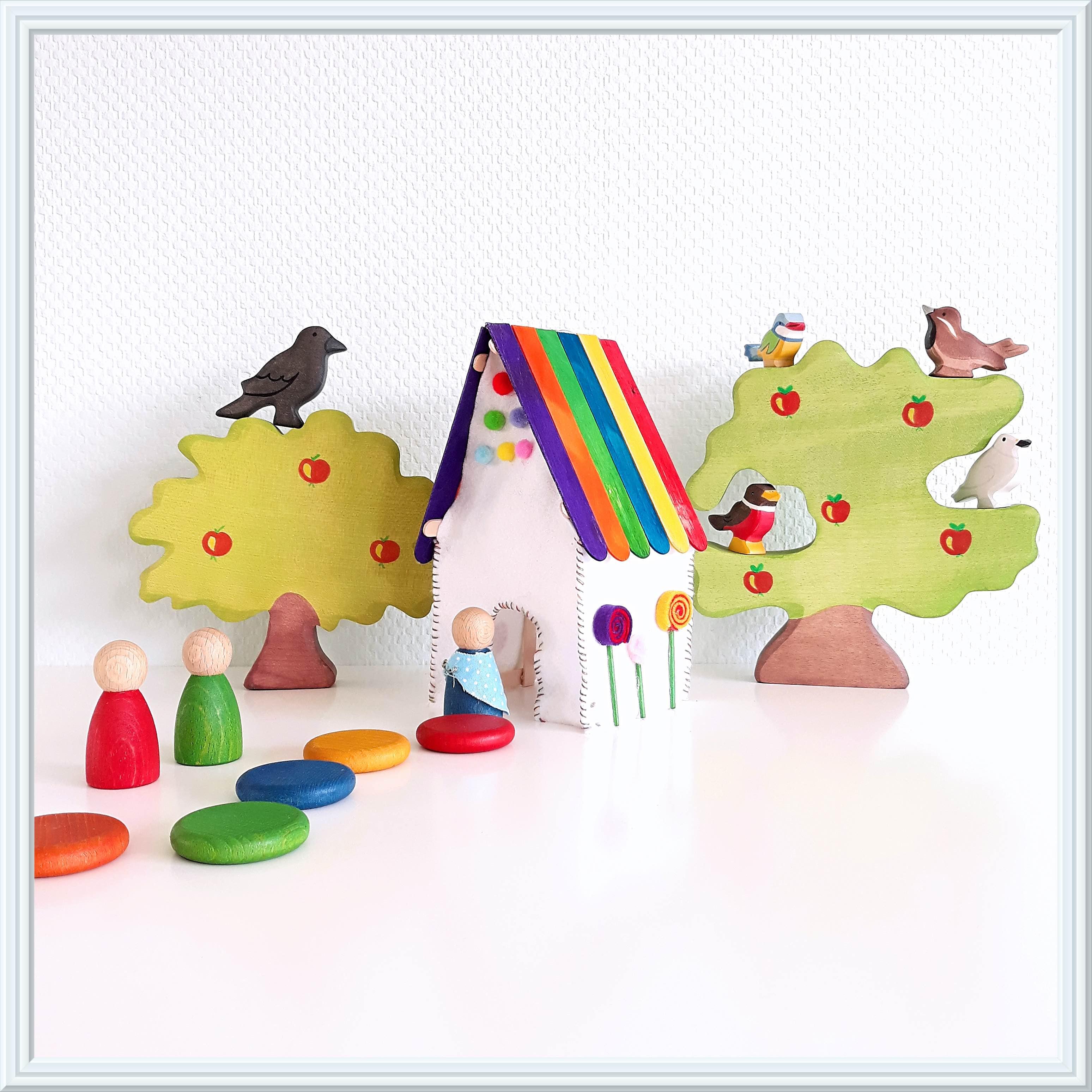 sprookjes met houten speelgoed: hans en grietje
