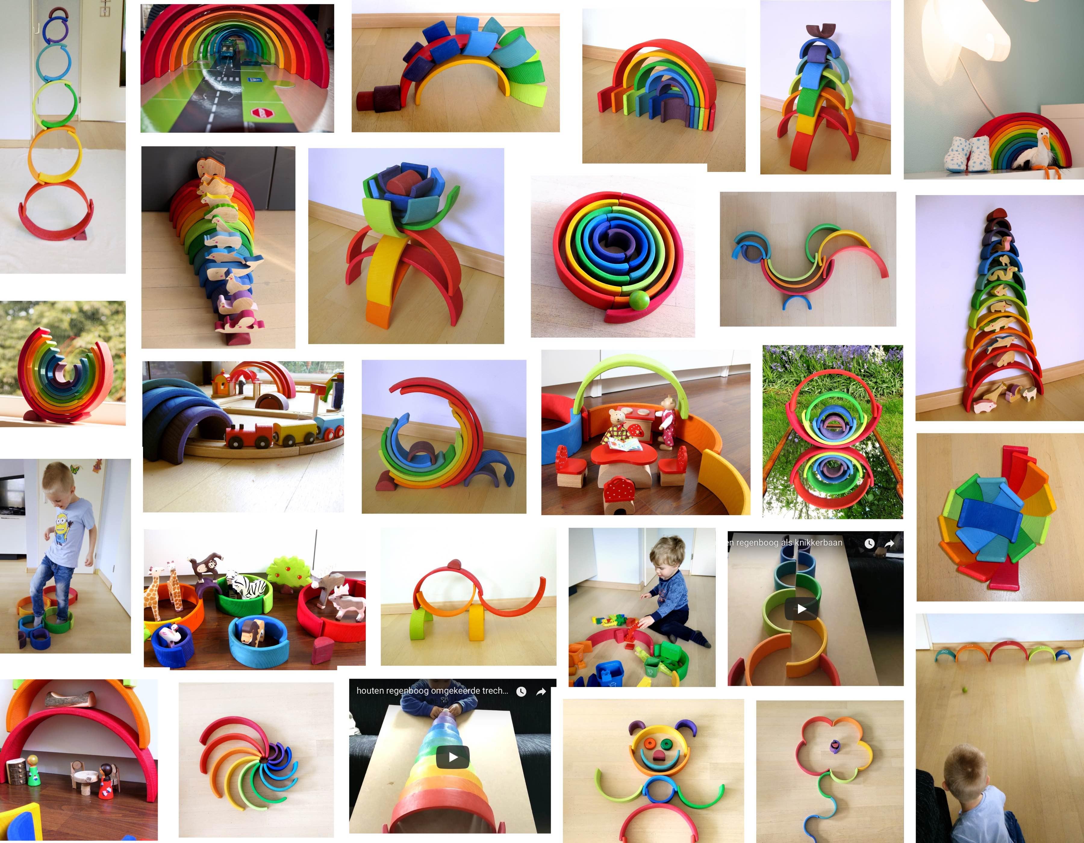 houten regenboog voorbeelden