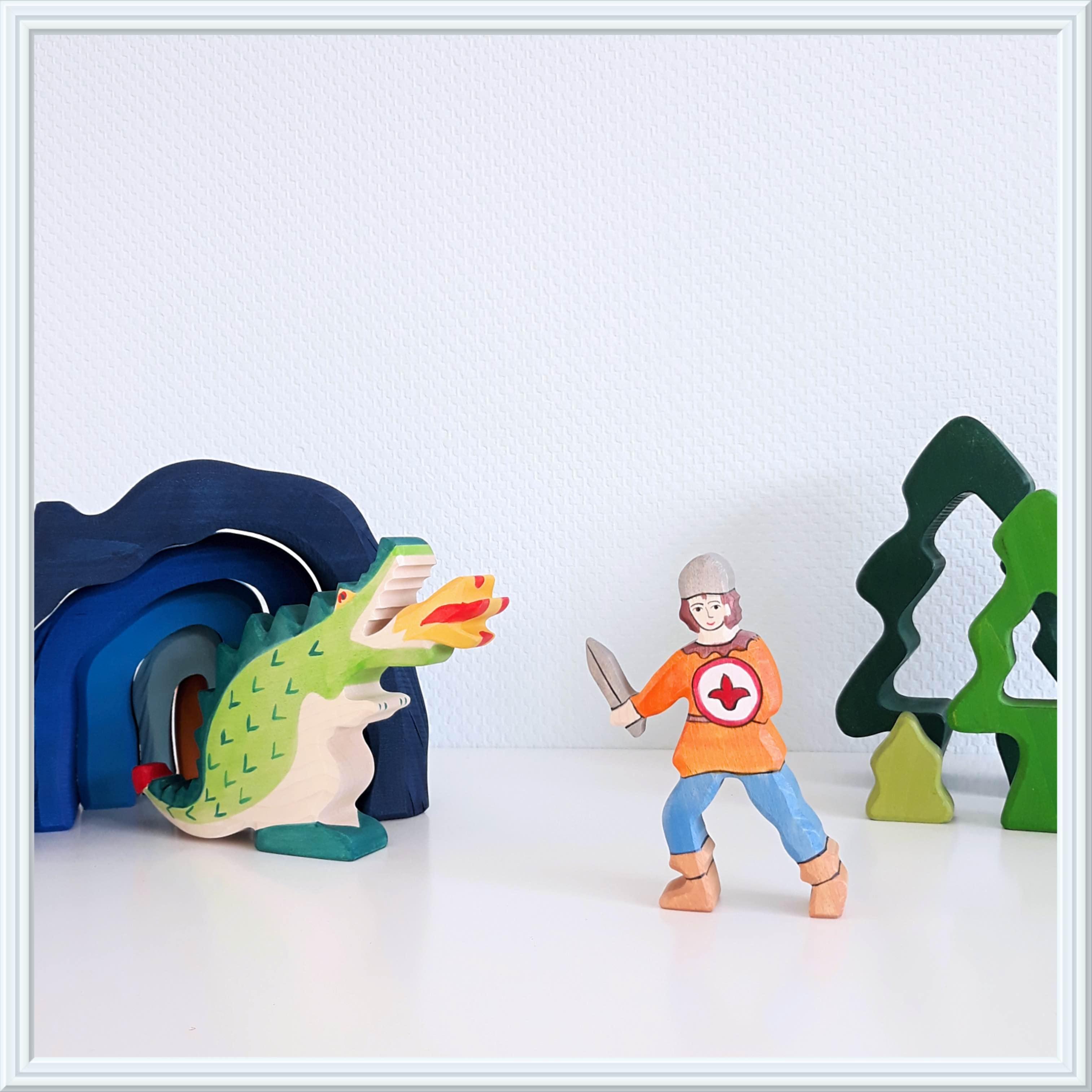 houtspel sprookjesmaand joris en de draak