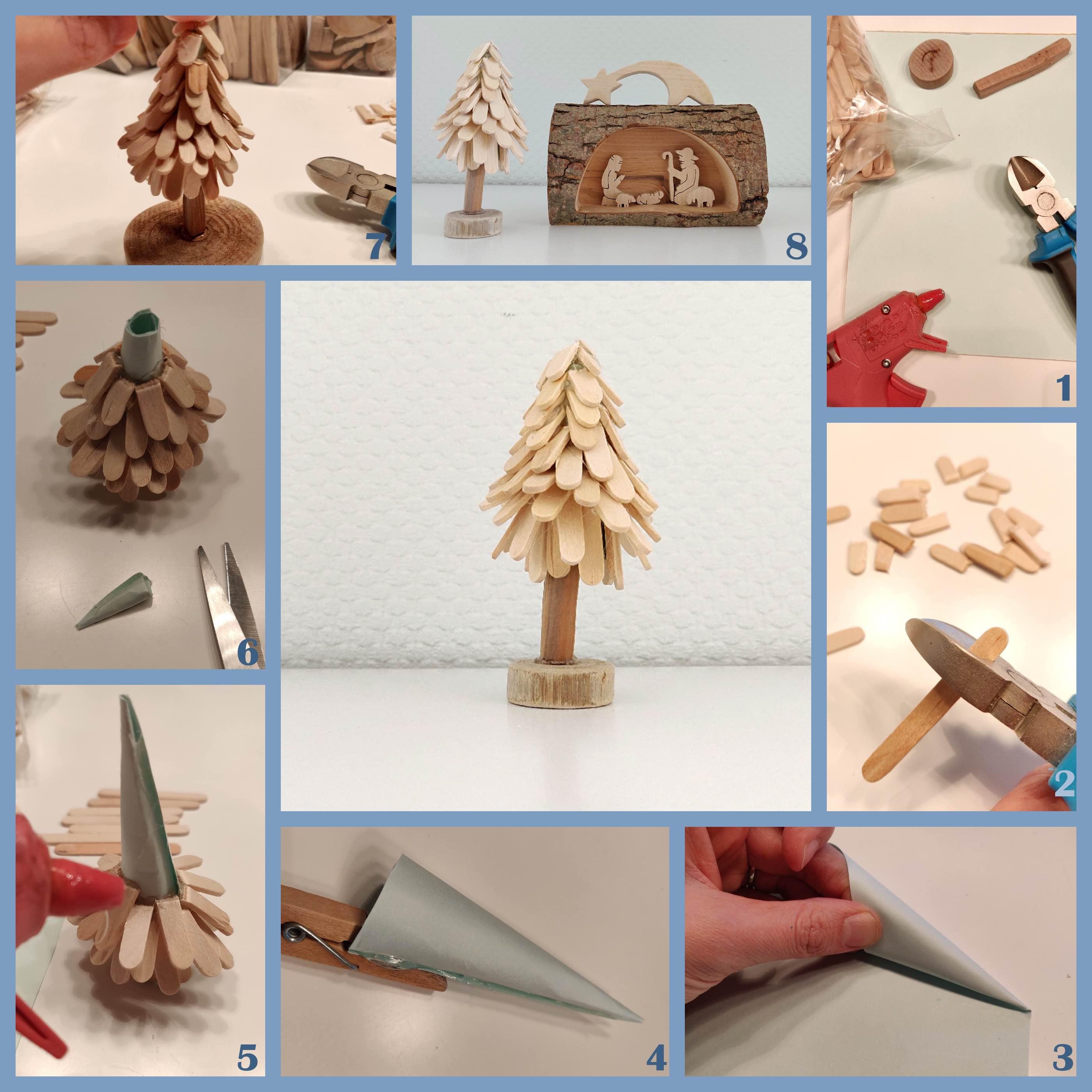 Knutsel een dennenboom van ijsstokjes