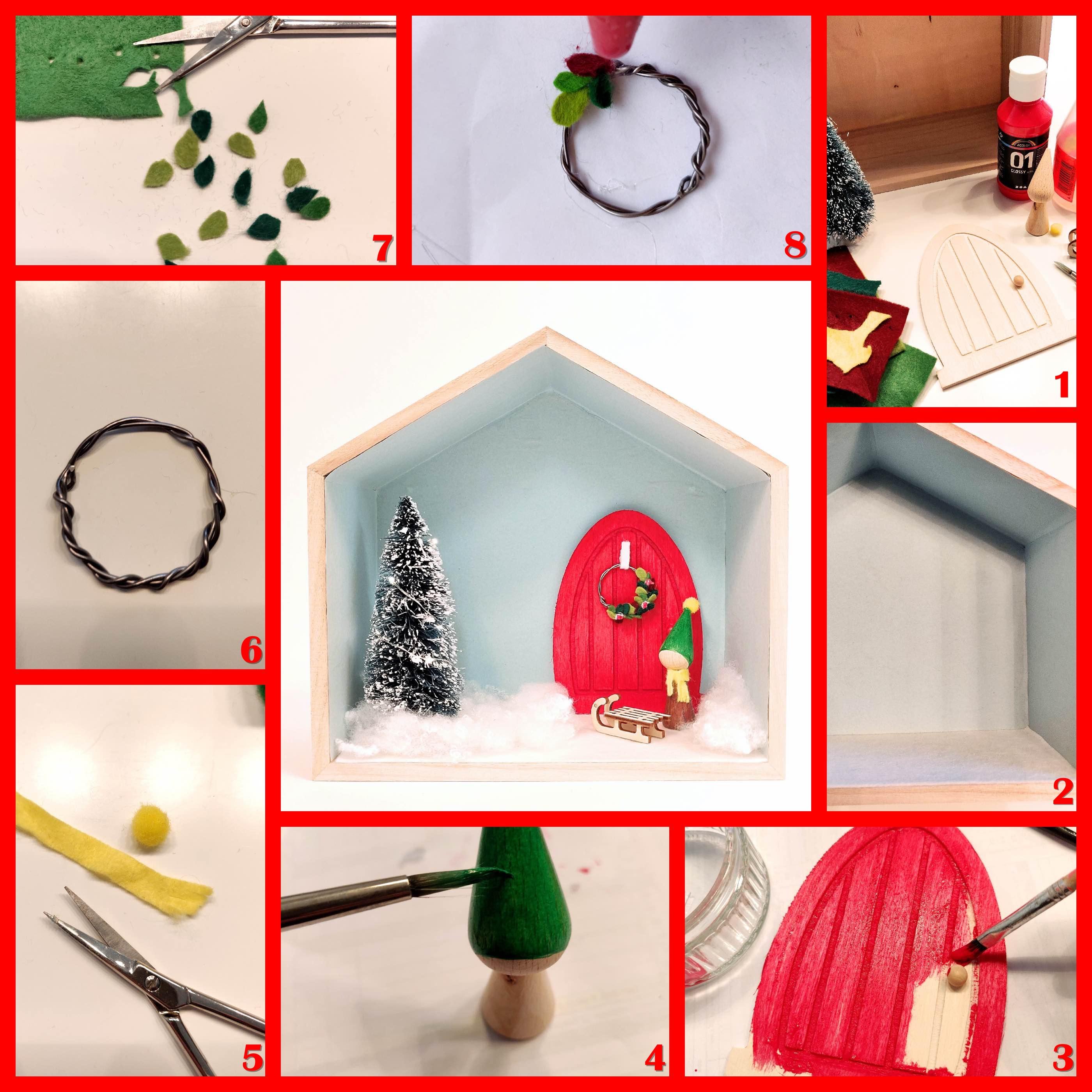 miniatuur kerstwereld knutselen