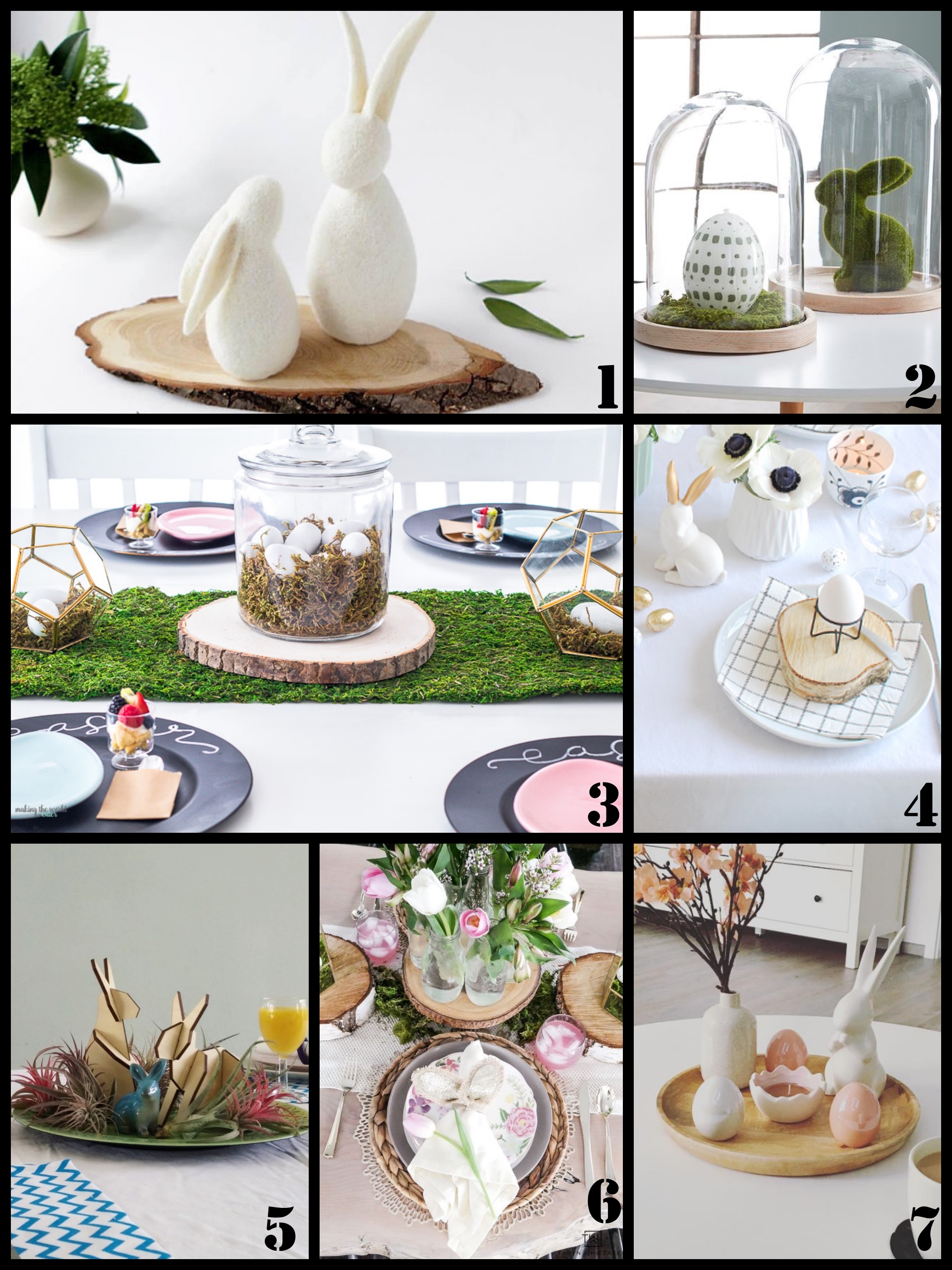paas tafel decoreren